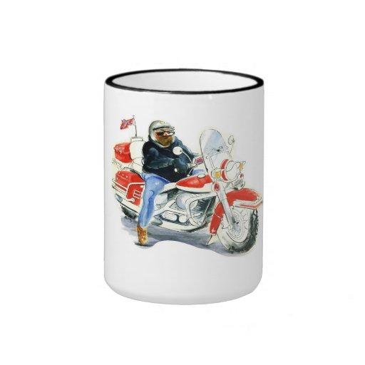 Cycliste de Harley Davidson Mugs À Café