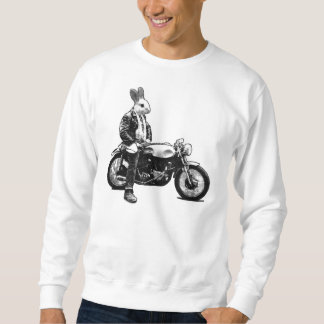 Cycliste de lapin sweatshirt
