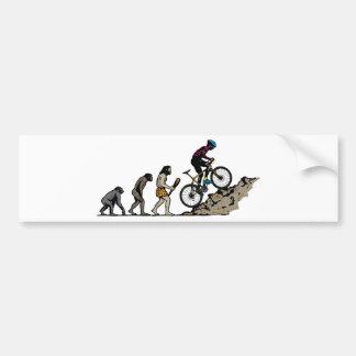 Cycliste de montagne autocollant de voiture