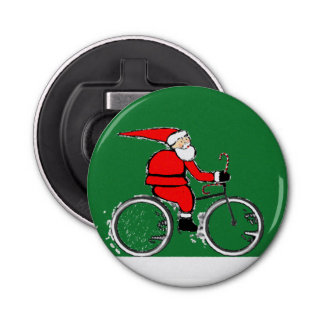 Cycliste de Noël Décapsuleur
