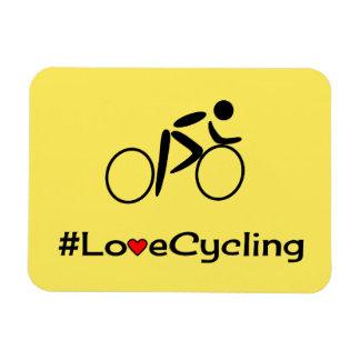 Cycliste de recyclage de slogan d'amour magnet flexible