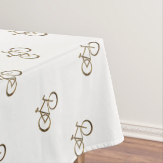 Cycliste de recyclage d'or de vélo de bicyclette nappe