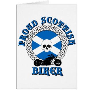 Cycliste écossais fier carte de vœux