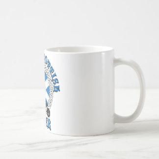 Cycliste écossais fier mug blanc