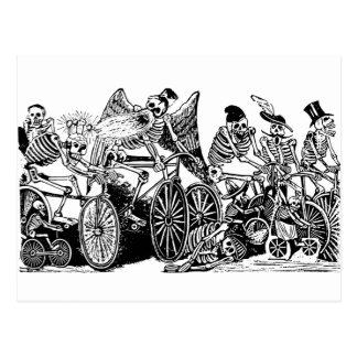 Cyclistes squelettiques par José Guadalupe Posada Carte Postale