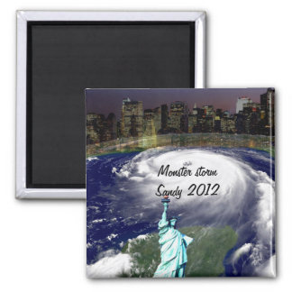 Cyclone superbe Sandy 2012, oeil du storm_ Magnets Pour Réfrigérateur