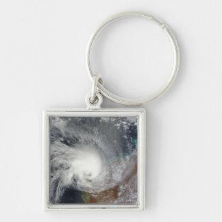 Cyclone tropical Carlos Porte-clé Carré Argenté