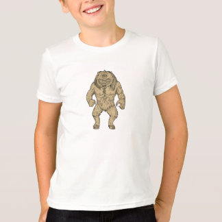Cyclopes tenant le dessin t-shirt