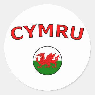 Cymru Sticker Rond