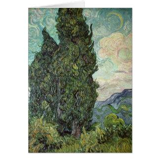 Cyprès de Vincent van Gogh |, 1889 Carte De Vœux