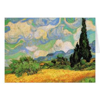 Cyprès du champ de blé de Van Gogh W chez Haute Carte De Vœux