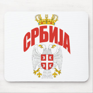 Cyrillique de la Serbie Tapis De Souris