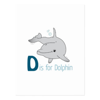 D est pour le dauphin carte postale