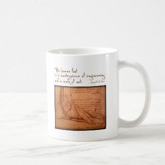 "da Vinci : ""Le pied humain est… "" Mug"