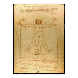 Da Vinci Vitruve Luc Viatour Carte Postale