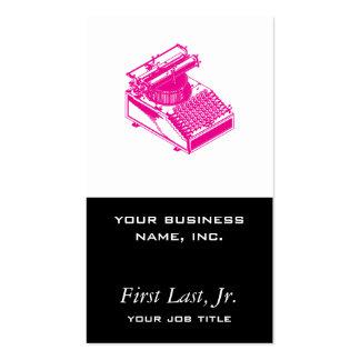 Dactylographiez le magenta de machine d'écriture carte de visite standard