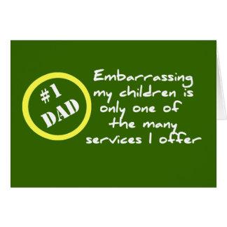 Dadism drôle, la meilleure carte de papa