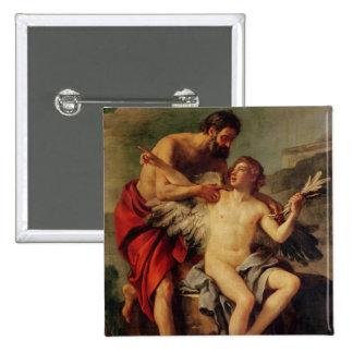 Daedalus attachant les ailes d'Icare, c.1754 Badge