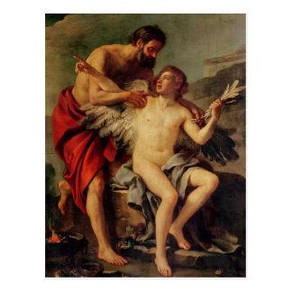 Daedalus attachant les ailes d'Icare, c.1754 Cartes Postales
