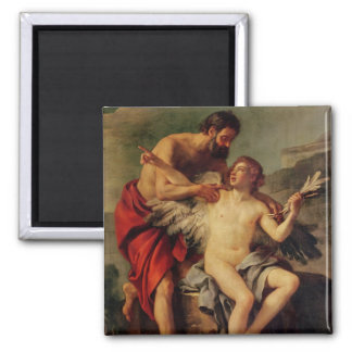 Daedalus attachant les ailes d'Icare, c.1754 Magnet Carré