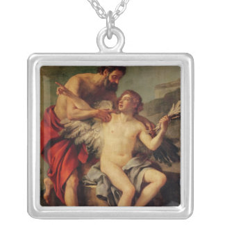 Daedalus attachant les ailes d'Icare, c.1754 Pendentif Carré