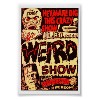 D'affiche de film étrange de Frankenstein Affiches