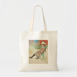 Dagmar dans le jardin sacs en toile