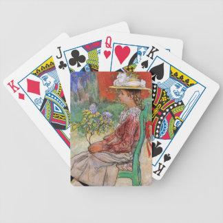 Dagmar tenant des fleurs jeu de cartes