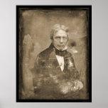 Daguerréotype 1845 de Michael Faraday Poster