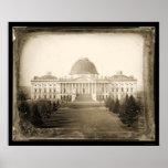 Daguerréotype 1846 de C.C de capitol des USA Affiche
