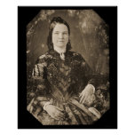 Daguerréotype 1846 de Mary Todd Lincoln Poster
