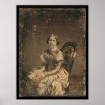 Daguerréotype 1848 de Jenny Lind d'actrice Poster
