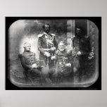 Daguerréotype 1855 de la Crimée de la Commission m Poster