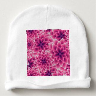 Dahlia coloré de pourpre de motif d'été bonnet de bébé