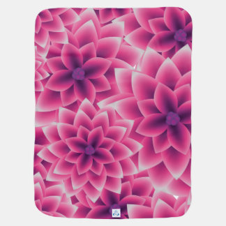 Dahlia coloré de pourpre de motif d'été couvertures pour bébé