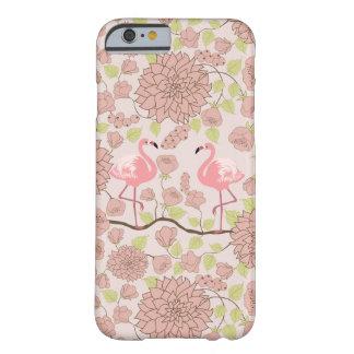 Dahlia rose, coque iphone de motif de flamant coque iPhone 6 barely there