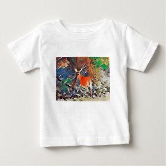 Daine coupée la queue par blanc t-shirt pour bébé