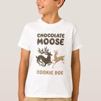 Daine de biscuit d'orignaux de chocolat t-shirt