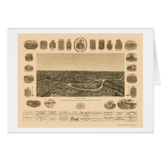 Dallas, carte panoramique de TX - 1892