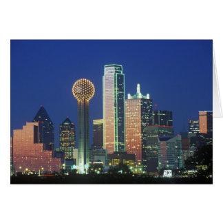 'Dallas, horizon de TX la nuit avec la Réunion Carte De Vœux