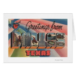 Dallas, lettre ScenesDallas, TX de TexasLarge Carte De Vœux