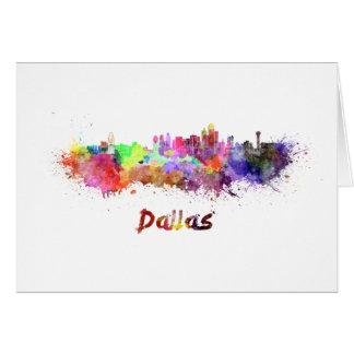 Dallas skyline in watercolor carte de vœux