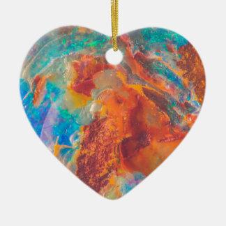 Dalle opale de marbre d'agate ornement cœur en céramique