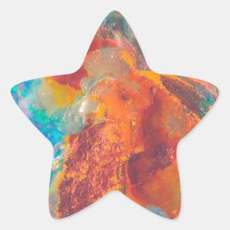 Dalle opale de marbre d'agate sticker étoile