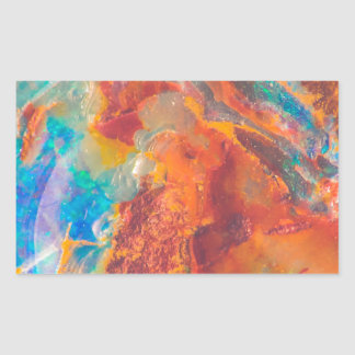 Dalle opale de marbre d'agate sticker rectangulaire