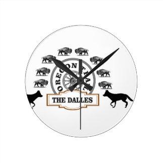 dalles de bison de renard horloge ronde