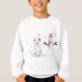 Dalmate et bonhomme de neige sweatshirt