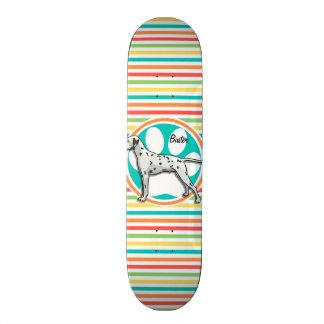 Dalmate Rayures lumineuses d arc-en-ciel Skateboards
