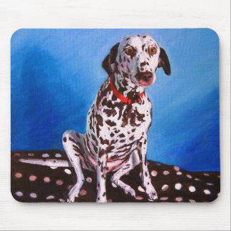 Dalmate sur le coussin tacheté 2011 tapis de souris