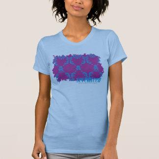 Damassé 2 Aqua-Pourpres T-shirt